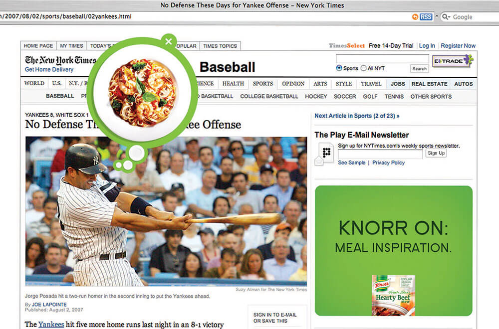 Knorr New York Times Activation